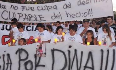 Marcharon por las calles de Adelia, pidiendo justicia por Dina Quiroga