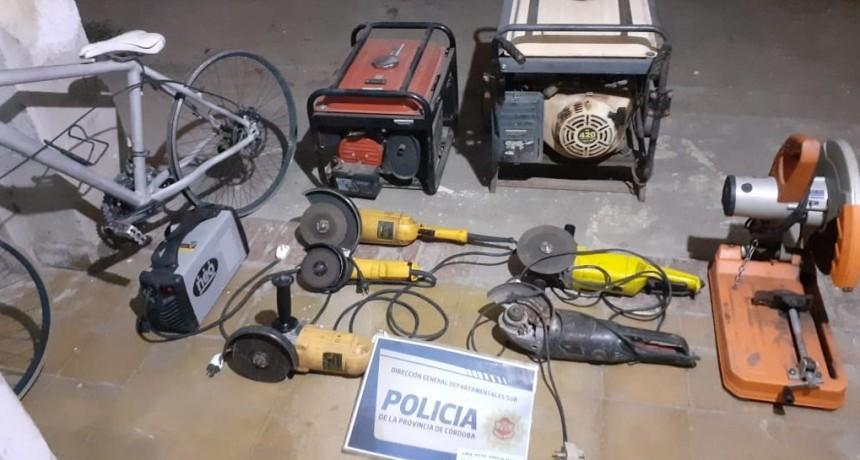 Recuperan varios elementos robados