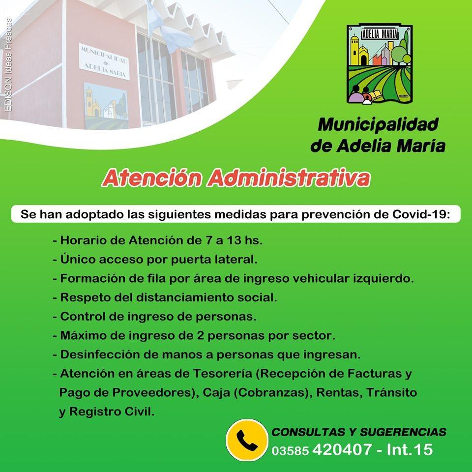 Con restricciones, abren el lunes Municipalidad, Cooperativas y Bancos para todo público