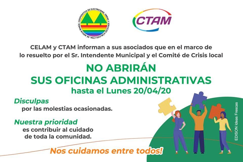 Marcha atrás para la apertura de Municipio y Cooperativas.