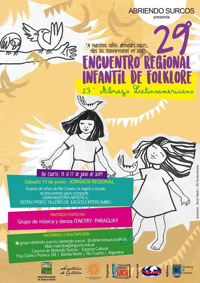 Grupo infantil de Música y Danzas Paraguayo visita la localidad