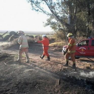 Incendio de pastizales en Pavín
