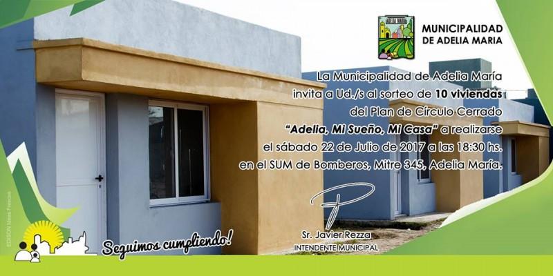 Sortean 10 nuevas viviendas del plan Adelia, mi sueño, mi casa