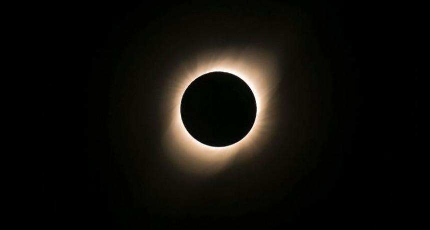 El eclipse solar se pudo disfrutar en la localidad
