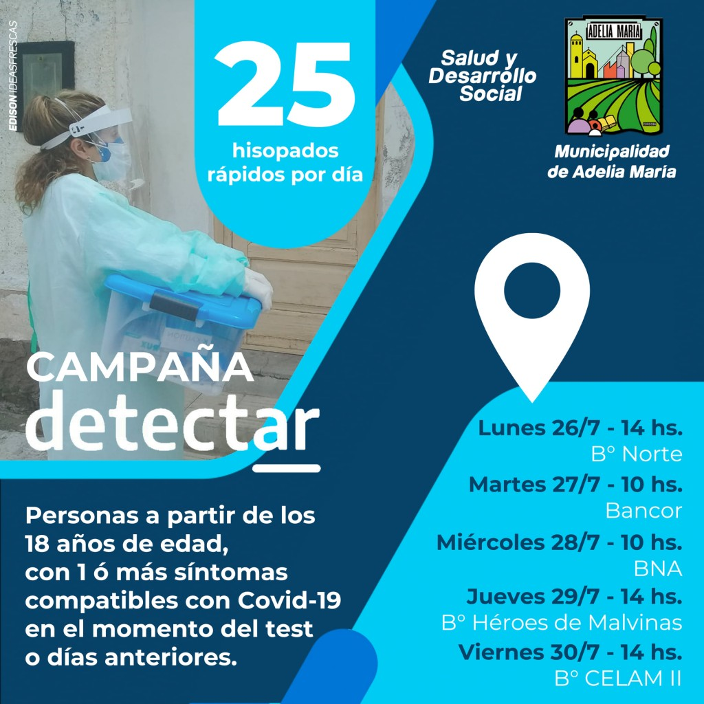 CAMPAÑA DETECTAR EN ADELIA MARÍA