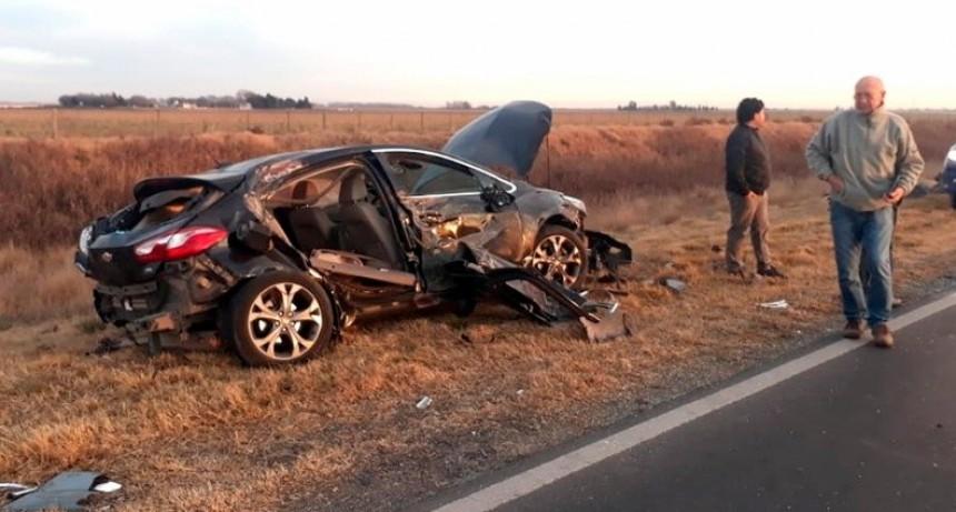 Accidente múltipe en la Ruta 35 con una pareja adeliamariense involucrada