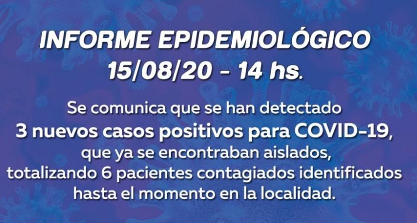 Un nuevo informe epidemiológico indica que ya son 6 los casos positivos de Covid 19