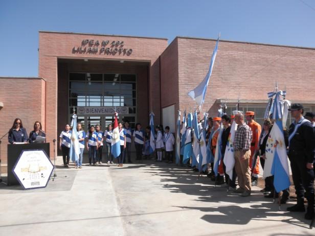 Monte de los Gauchos inauguró el nuevo edificio para el secundario