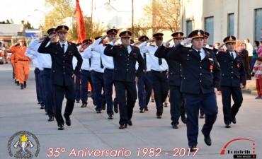 Bomberos de Adelia María recibió un cálido homenaje en su 35º aniversario