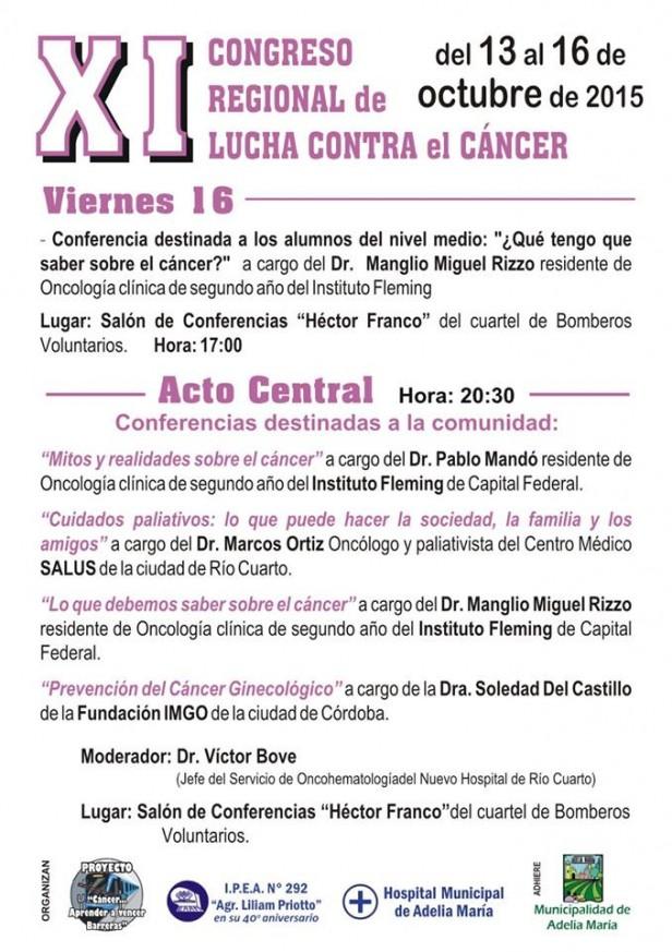 Se lleva adelante el 11° Congreso de lucha contra el Cancer