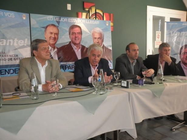 El Gobernador De La Sota respaldó al Candidato Cometto