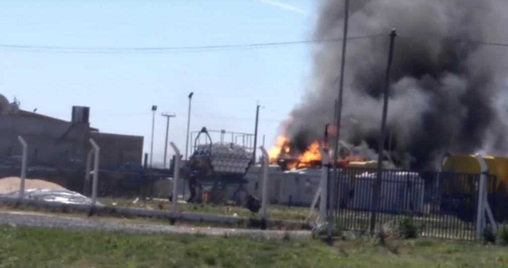 Alarma en la población de Levalle por el incendio en Estación de GNC