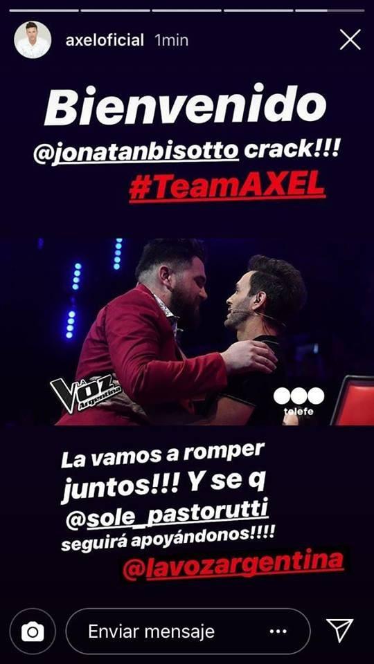 Joni Bisotto se presenta nuevamente este miércoles en La Voz Argentina