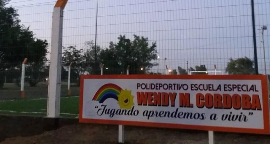 Se inauguró el Polideportivo de la Escuela Especial