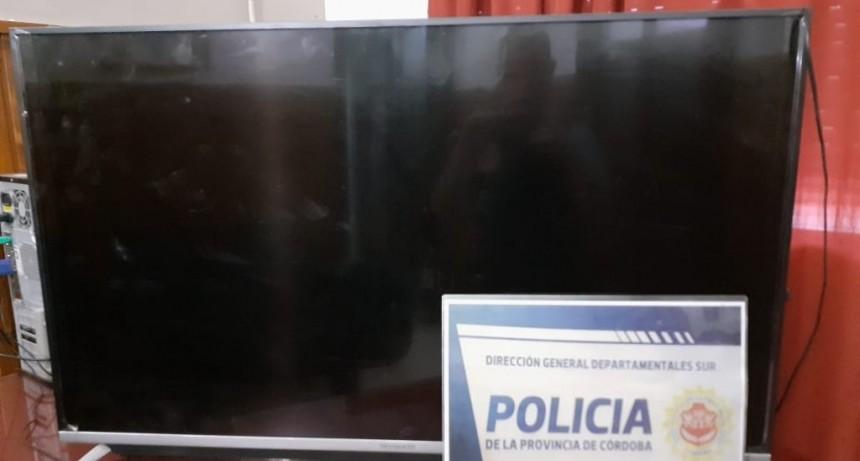 Recuperaron el televisor robado